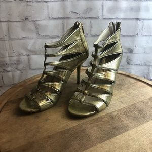 Gold heels by Michael Kors. Size 10